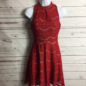 LOVE FIRE LACE RED DRESS